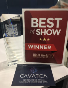 Cavatica wins Bio-IT Best of Show Award
